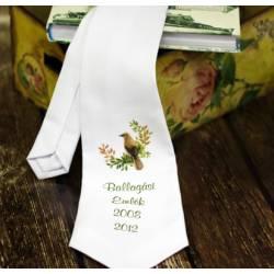 Fehér nyakkendő - Madaras